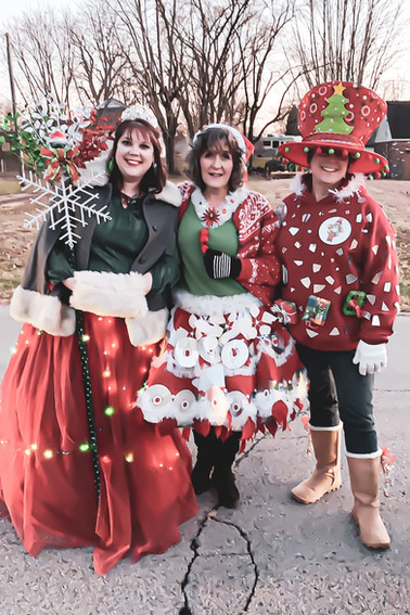 Rachael, Terri and Jodi B in Christmas P
