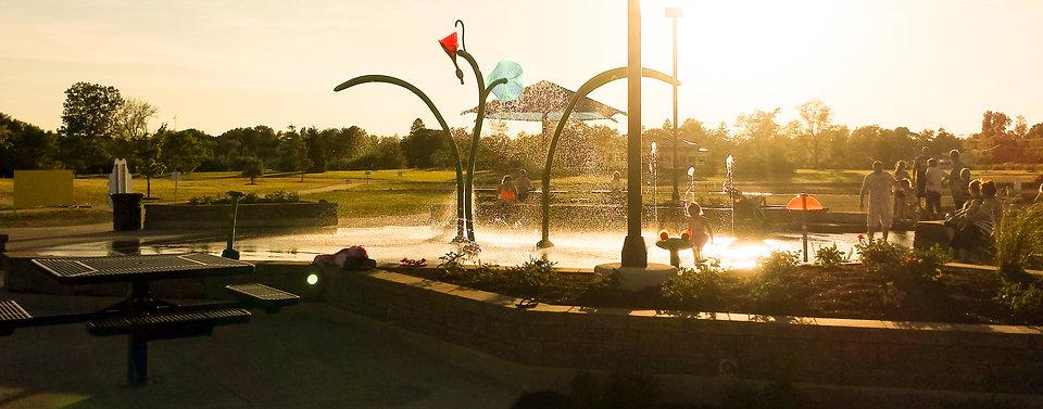 Riverside Gardens - Splash Pad - Leo-Cedarville Indiana
