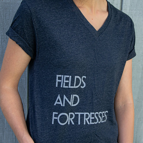 Fields and Fortresses V-Neck (Unisex)