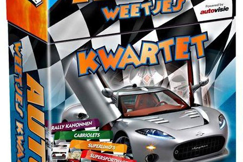 Kwartet - Auto's (Educative FlashCards & Family Game)