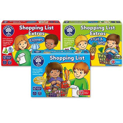 Shopping List - Extra Packs