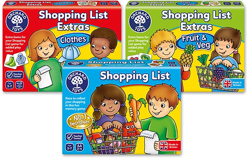 Shopping List - Extra Packs