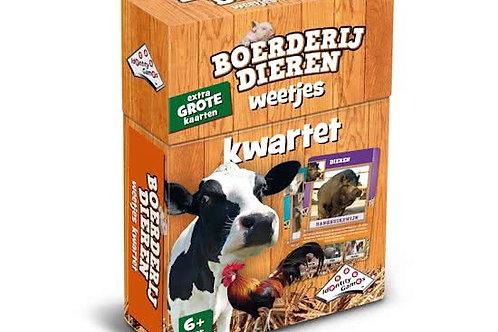 Kwartet - Boerderijdieren (Cartes éducatives et Jeu des Familles)