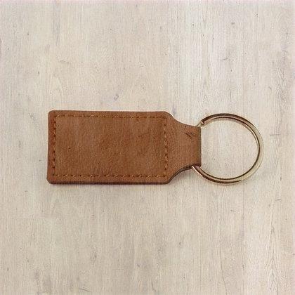 Leather Saddle Collection Rectangular Key Ring
