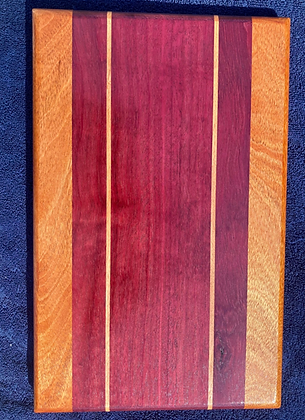Purple Heart, Mahogany & Beech Cutting Board