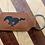 Thumbnail: Leather Saddle Collection Rectangular Key Ring