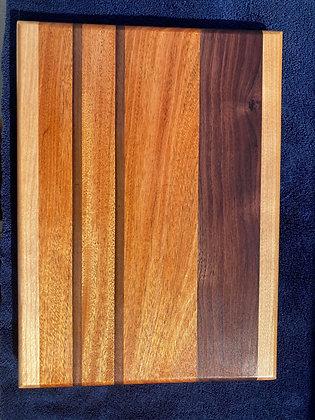 Mahogany, Walnut & Hard Maple Cutting Board