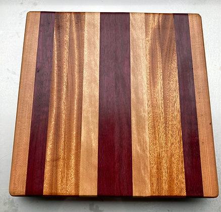 Purple Heart, Mahogany, Cherry & Hard Maple Cutting Board