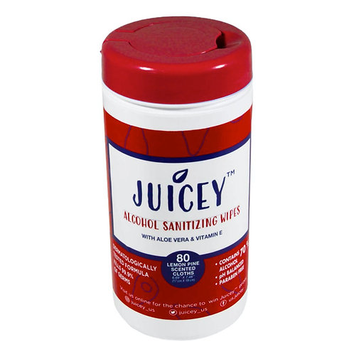 2 Pack- Juicey Alcohol Wipes Canister 80 Count