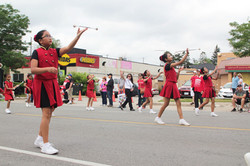 Majorettes Tossing Their Batons