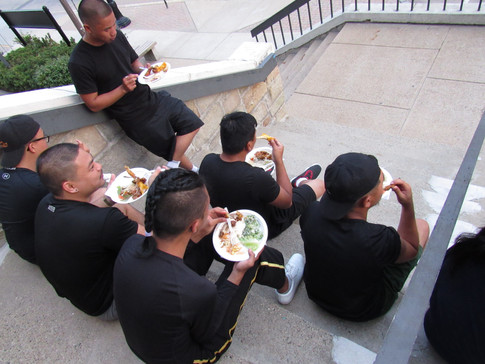 Eating after the Parade