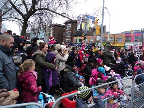 Toronto Santa Claus Crowd