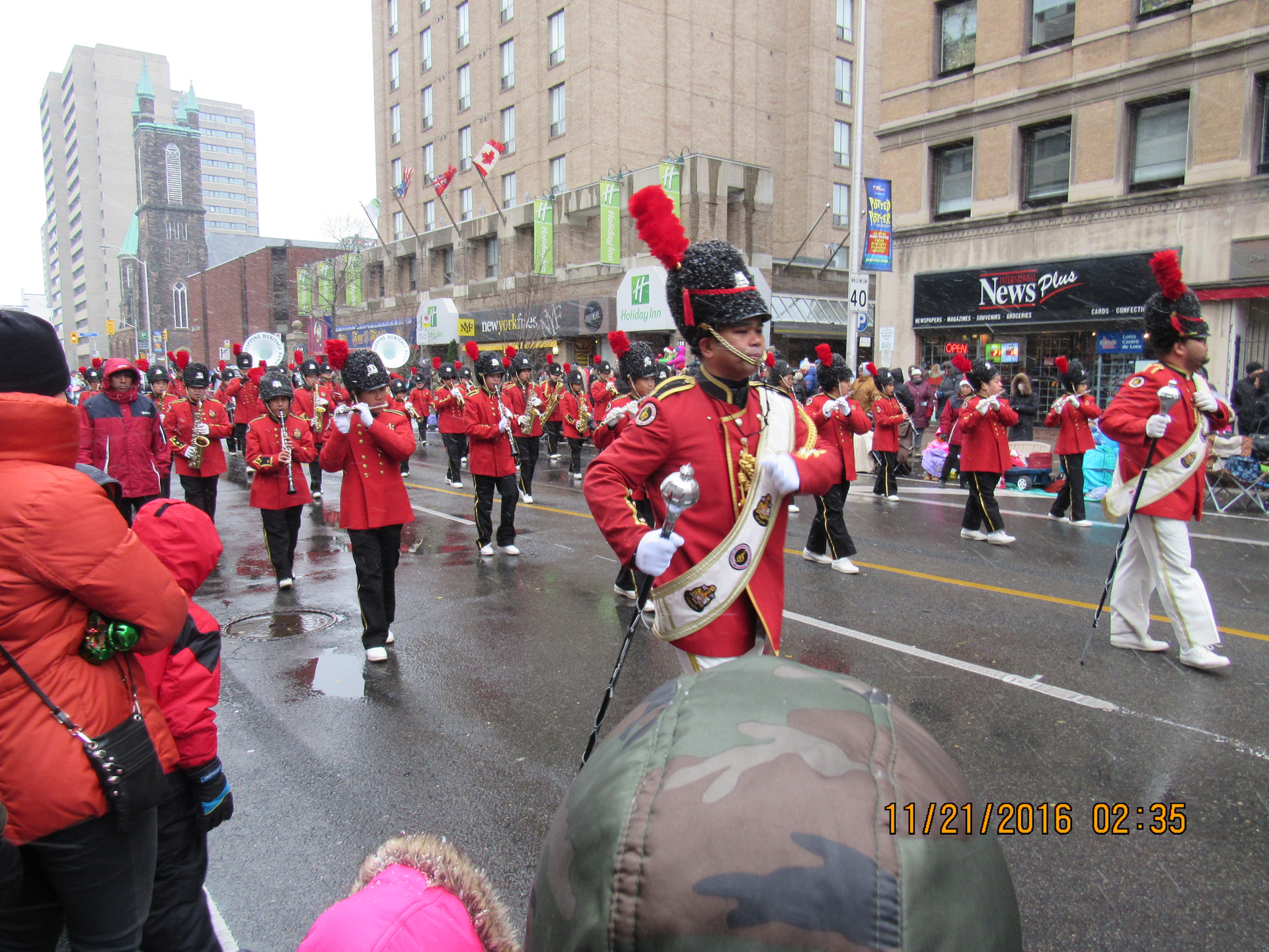 Marching in Toronto Santa Claus Parade