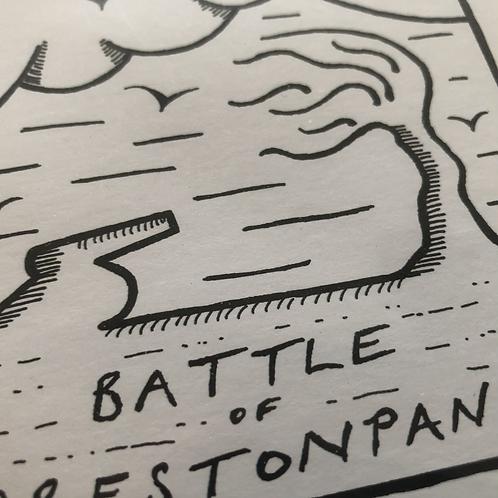 Battle of Prestonpans mounted print