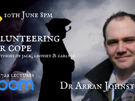 1722 LECTURES ONLINE - Dr Arran Johnston - Get your tickets now!
