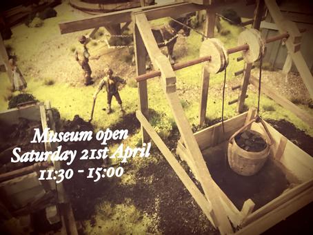 Museum open Saturday 21st April 11:30-15:00