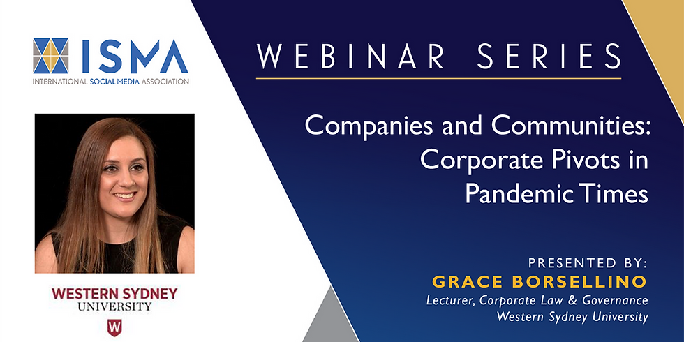 Companies and Communities: Corporate Pivots in Pandemic Times