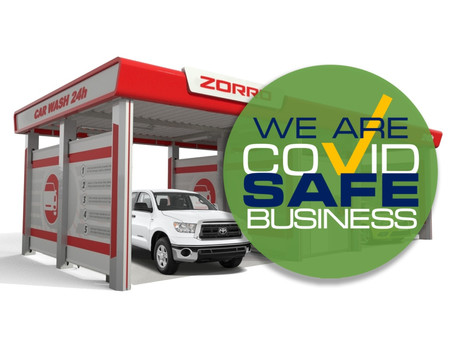 Covid Safe Business - Zorro Contactless Car Wash