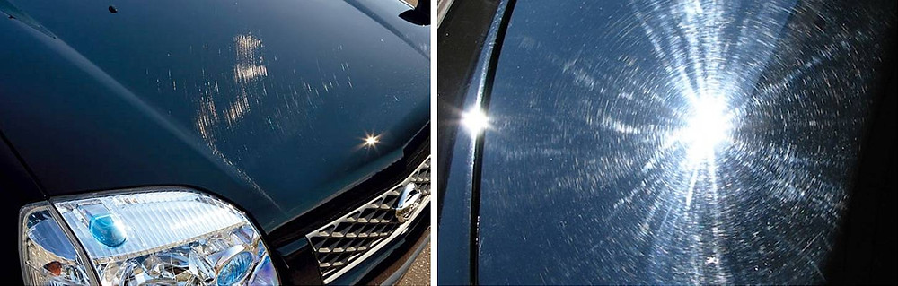 Swirl marks and scratches caused by wrong cleaning way