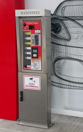 Control panel Contactless car wash Zorro