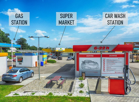 Car Wash station near Gas station - Symbiotic Business
