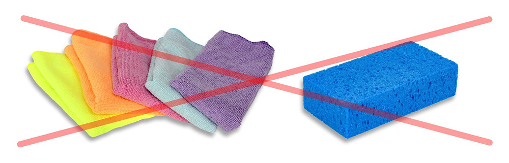 The longer the sponge and fabric are used, the more dust and pollution particles gets stuck in them and causes more damage