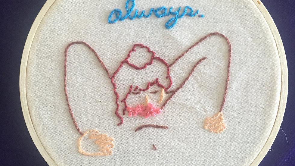 Always Oral Embroidery Hoop