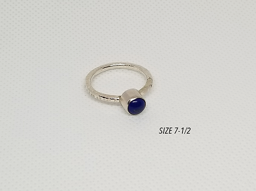 Lapis Tube Set Ring
