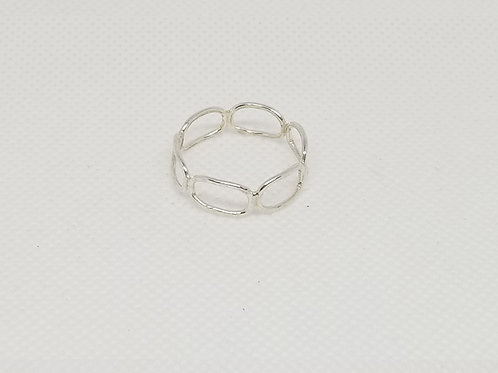 Sterling Silver Oval Ring Rings