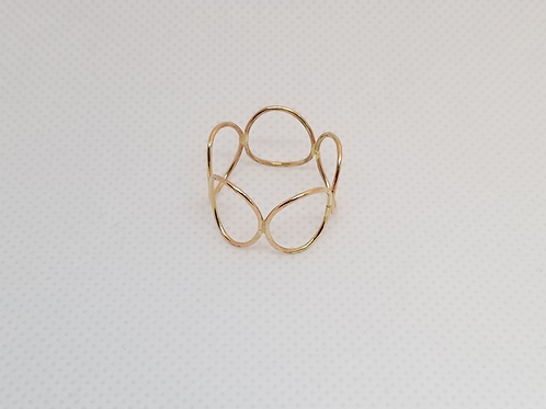 Oval Ring Rings Gold Filled 5 Large Rings (7.5)