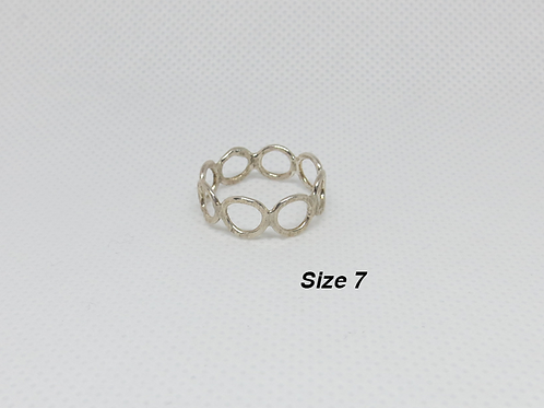 Sterling Silver Ring Rings (Size 7)