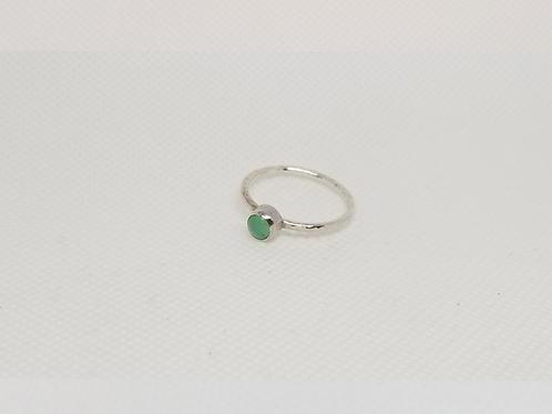 Jade Tube Set Ring (7-3/4)