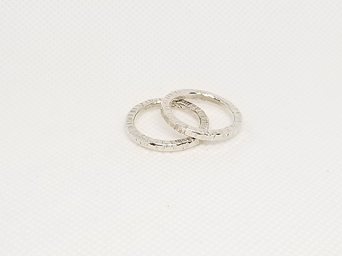 Sterling Silver Stacking Ring (Set two Rings)