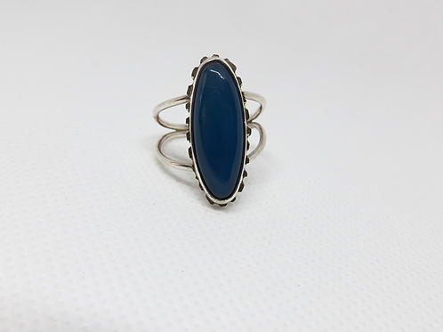 Blue Scalloped Table Double Band