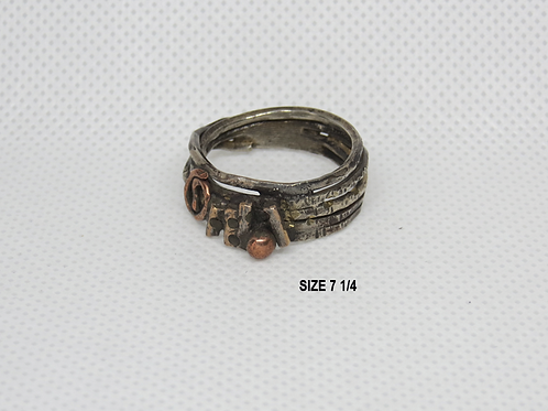 Tribal Marriage of Metals Ring (7-1/4)