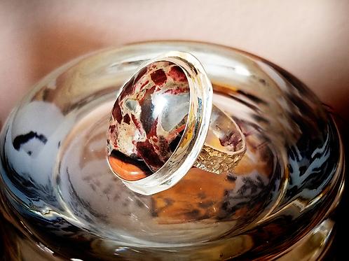 Sterling Silver Jasper Ring (Size 7)