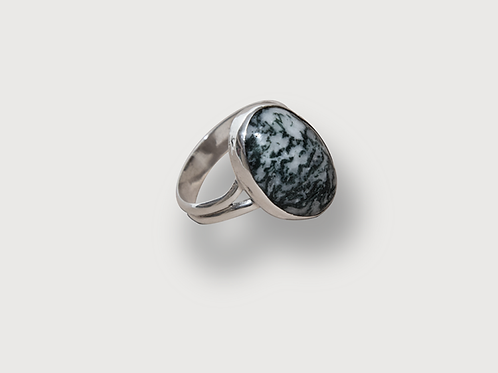 Moss Agate Ring (Size 7-3/4)