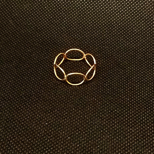 Ring Shank: 6 oval 14kt Gold