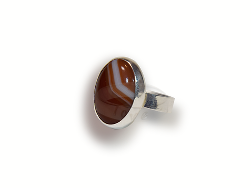 Striped Agate Ring