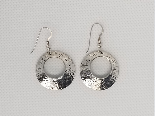 Sterling Silver Domed and hand stamped earnings