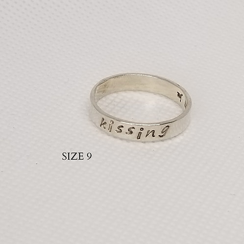 Kissing Sterling Stamped ring (9)