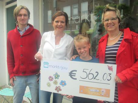 Markt4Jou geeft € 562,03 aan stichting 'Ramon'