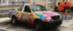 universal painting truck, company truck,work truck