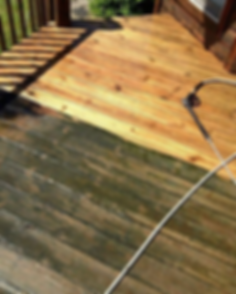 Making a old wooden deck look new again