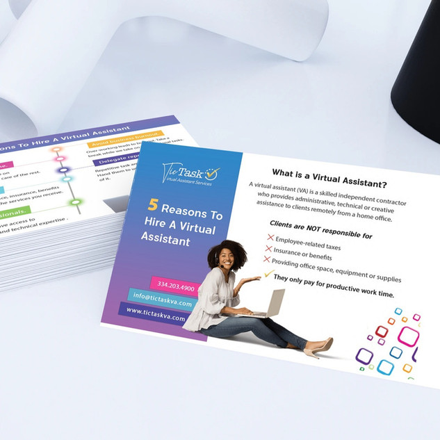Tic Task Marketing Material