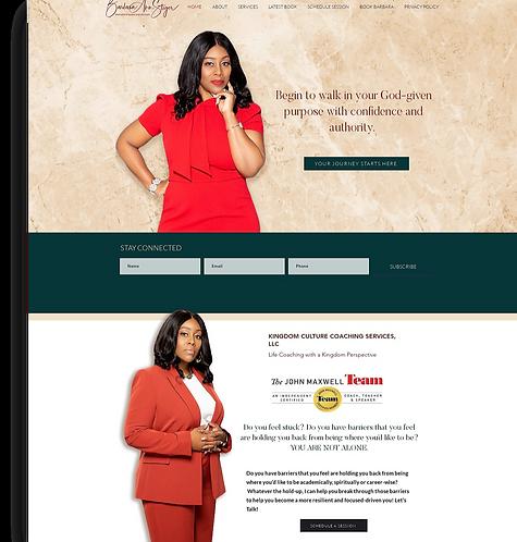 Custom One Page Website