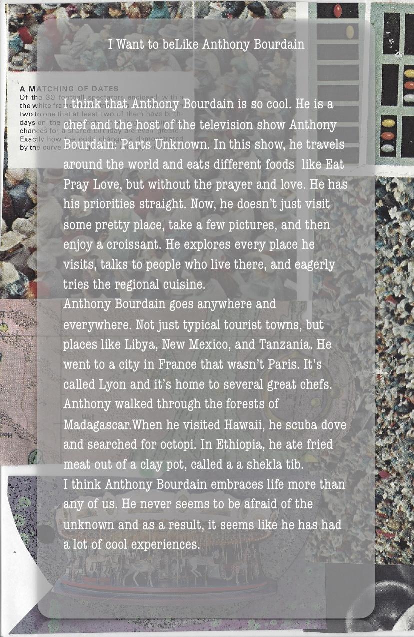 I Want to Be like Anthony Bourdain