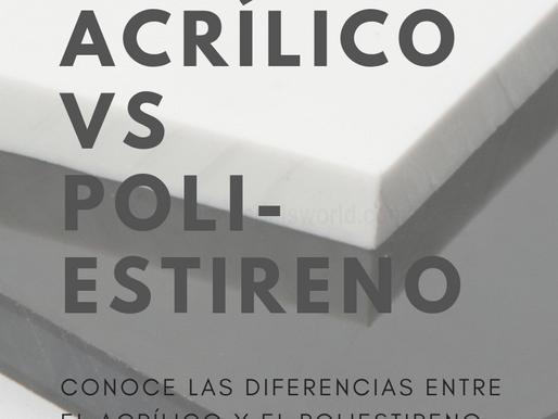 Diferencia entre el Acrílico y el Poliestireno