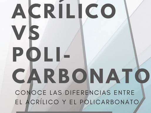 Diferencia entre el Acrílico y el Policarbonato