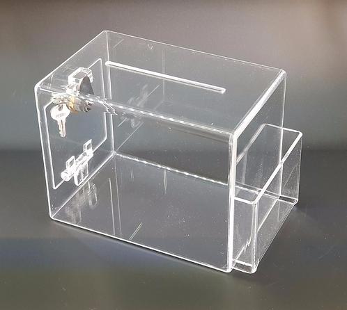 Buzón rectangular en acrílico